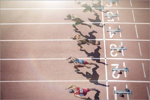 Posterlounge Cuadro de metacrilato 30 x 20 cm: Runners Start de Tom Merton/Fotofinder.com: Tom Merton: Amazon.es: Hogar