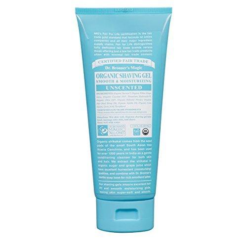 Dr. Bronner Organic Unscented Shaving Gel (207ml) by Dr. Bronner