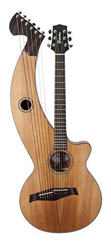 Harp Guitar | 12-String, All Solid Wood, Tropical Mahogany, Satin Finish, T20HGc | Timberline Guitar