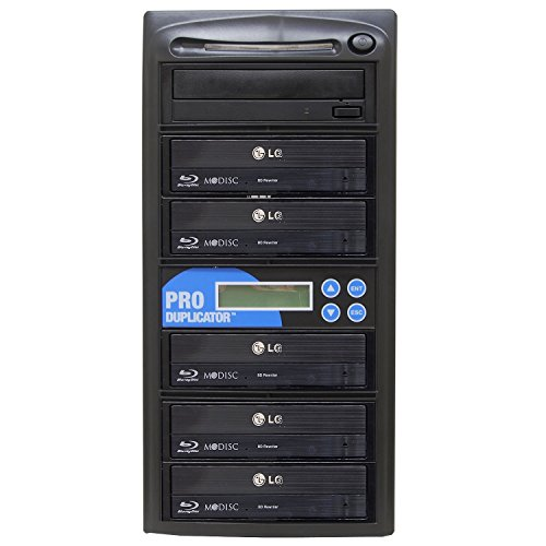 Produplicator 1 to 5 Blu-ray 14X BD BDXL M-Disc CD DVD Duplicator (with 500GB HDD, USB Connection and Nero Essentials CD/DVD Burning Software) Copier Tower Replication Recorder Burner