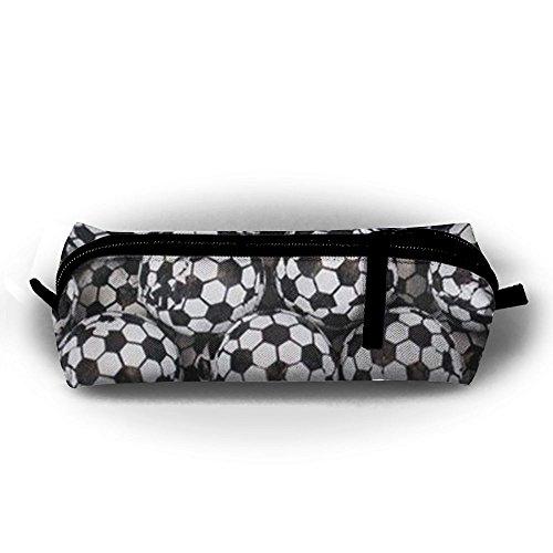 Miyv-q Bolas de Fútbol de Chocolate Lavables de Lona para bolígrafos, Bolsas de Papelería, Estuche para Lápices