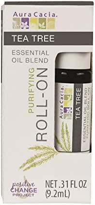 Aura Cacia Roll-On Essential Oil Blend, Tea Tree, 0.31 Ounce (Pack of 12)