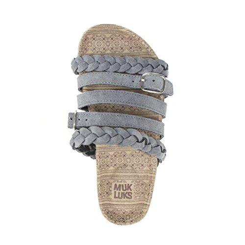 Women's Grey Women's Sandals LUKS Flat Sandal Terri MUK TP15wxw