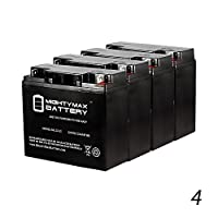12V 22AH SLA Battery for Westward Jump Starter - 4 Pack - Mighty Max Battery brand product