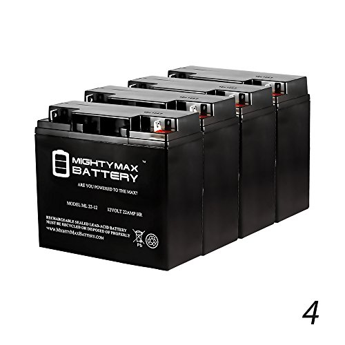 12V 22Ah Baoshi 6-DZM-20 6DZM20 Scooter Bike Sealed Battery - 4 Pack - Mighty Max Battery brand product by Mighty Max Battery