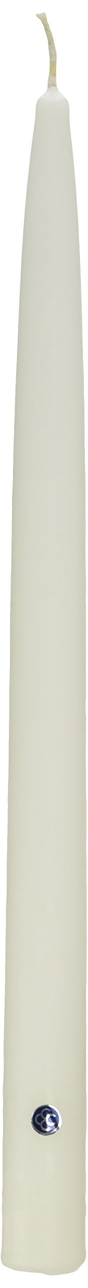 Colonial Candle Handipt Tapers, 12-Inch, White, Pack of 12 by Colonial Candle