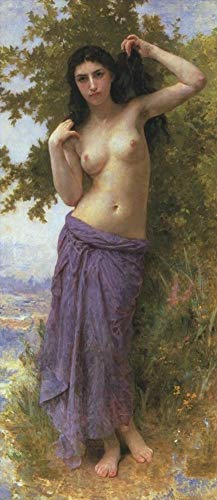 ($50-$2000 Handmade Oil Painting by College Teachers - Beaute Romane 1904 William Adolphe Bouguereau Nude Classic NCC1 Canvas Art for Home Wall Decoration -Large Size 16)