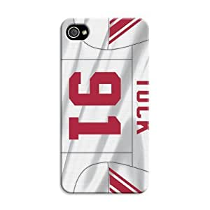 Case For HTC One M7 Cover Protective CaImpact Resistant Bumper, Nfl Football New York Giants, Compatible With Case For HTC One M7 Cover
