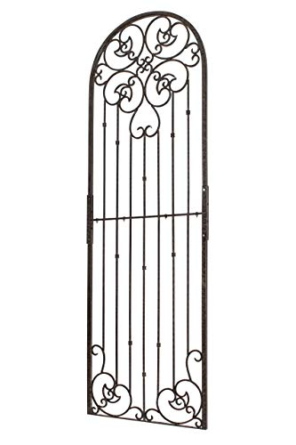 H Potter 8 Foot Tall Garden Trellis Wrought Iron Heavy Scroll Metal Decoration Lawn, Patio & Wall Decor Screen for Rose, Clematis, Ivy Weather Resistant Patio Deck Wall Art (X-Large)