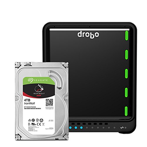 Drobo 5N2 16TB: Network Attached Storage (NAS) 5-Drive Array with Seagate IronWolf HDDs – 2X Gigabit Ethernet Ports (DRDS5A21-16TB)
