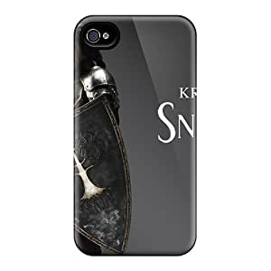 Flexible Tpu Back Case Cover For Iphone 4/4s - Snow White