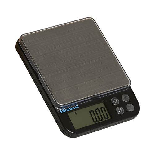 Brecknell EPB Small Digital Pocket Balance Scale, 500 Gram Capacity, Battery Powered, Kilogram, Gram, Pound, Ounce, Carat, Counting Modes
