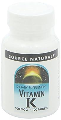 Vitamin K 500 mcg Source Naturals, Inc. 100 Tabs