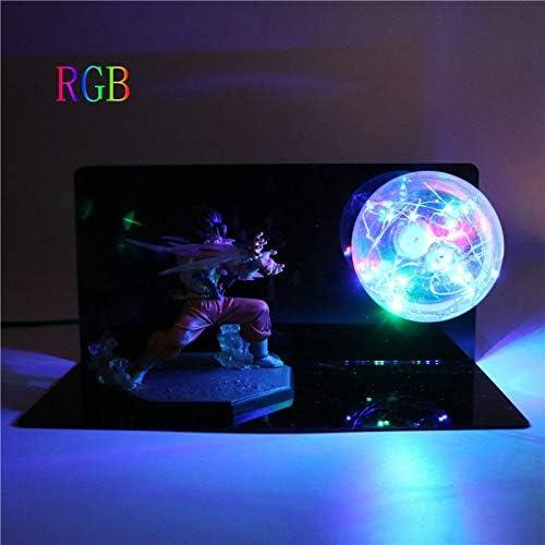 Amazon.com: Dragon Ball Z Goku Kamehameha | Night Light DIY Anime Model Table Lamp Baby Dolls LED Action Figures Lamp: Clothing