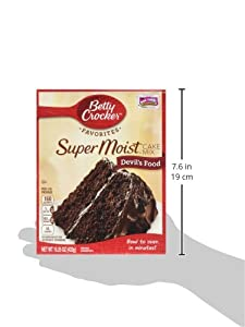 Betty Crocker Super Moist Cake Mix Devils Food 1525 Oz Box by General Mills