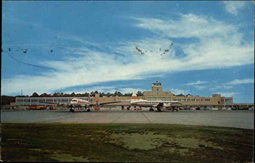 View of Regional Airport Norfolk, Virginia Original Vintage Postcard - Regional Airport