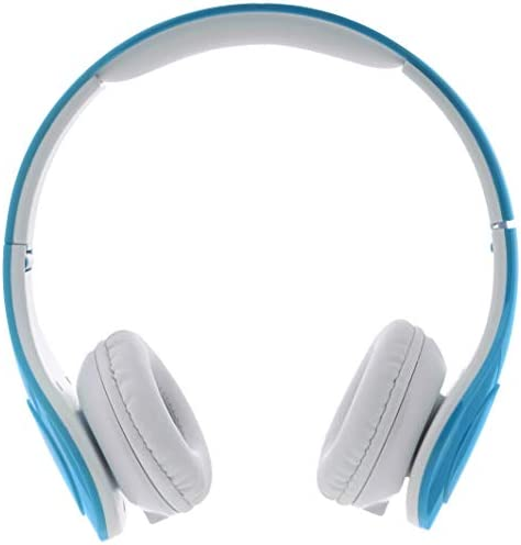 AmazonBasics Volume Limited Wired Over-Ear Headphones For Kids With Two Ports For Sharing, Blue