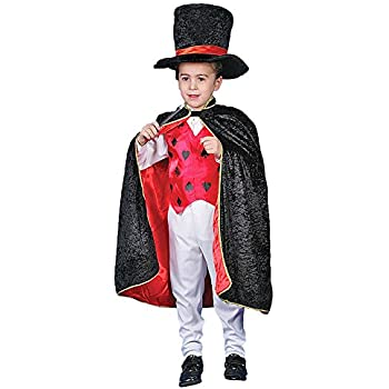 Deluxe Magician Dress up Costume Set - Medium 8-10  sc 1 st  Amazon.com & Amazon.com: Kids Magician Costume Set w/ Storage Bag - Cape Wand ...