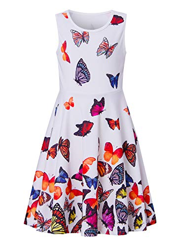 BFUSTYLE Girls Dresses Summer Tank Playwear Skater Dress Twirl Frocks Sleeveless Casual Sundress for Kid Girl 4-13 Years -