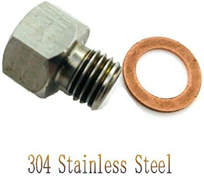Fitting Adapter NPT 1//8 Female Metric M12X1.5 Male 304 Stainless Steel