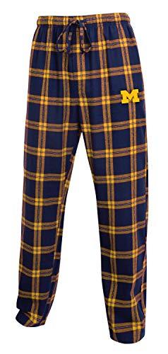 (Concepts Sport Men's NCAA-Homestretch-Plaid Sleepwear Pajama Pants-Michigan)
