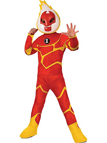 Rubie's Ben 10 Child's Deluxe Heatblast Costume, -