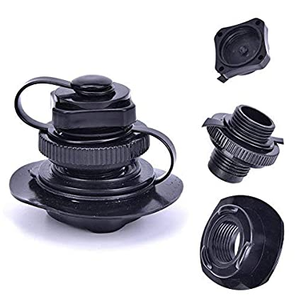 YaBland Inflatable Valve Replacement Air Valve Raft Air Valve with Spiral  Cap Rib Screw Air Plug&Cap,Twist Lock for Intex/jilong Boats/bestway/Kayak