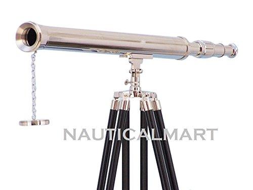 Floor Standing Chrome Harbor Master Telescope 60 by Nauticalmart