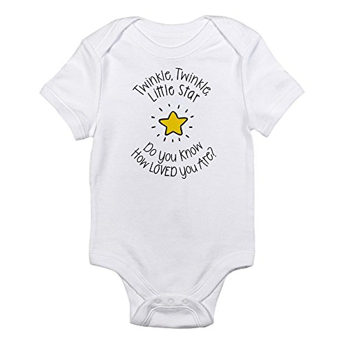 Cafepress   Twinkle  Twinkle Little Star Do You Know How Loved   Cute Infant Bodysuit Baby Romper