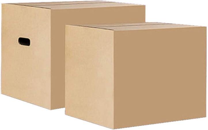 AQD Cajas de Embalaje de cartón Resistente Caja de cartón Corrugado para envío y Almacenamiento Cajas móviles de Color marrón Caja de Embalaje de Servicio Pesado para el retiro Envío400*400 * 400mm: