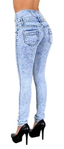 jean Bleu J22 femme tex Jeans femme haute by skinny taille batique pantalon Jean en claire RZzpHqwx7y