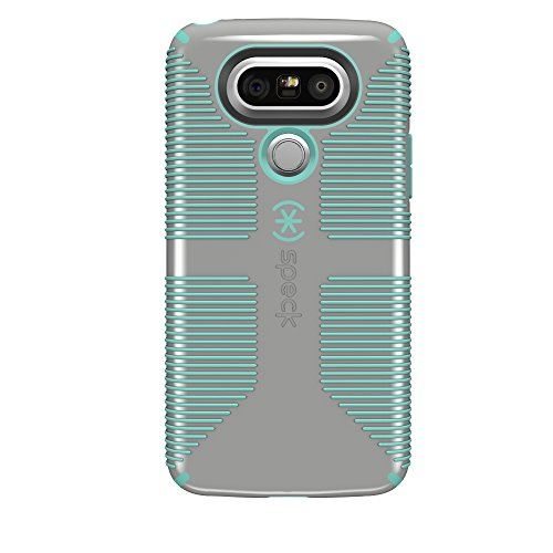 Speck Products CandyShell Grip Cell Phone Case for LG G5 - Sand Grey/Aloe Green