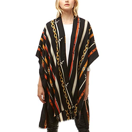 Me Plus Women Open Front Light Weighted Kimono Shawl Wrap Cardigan