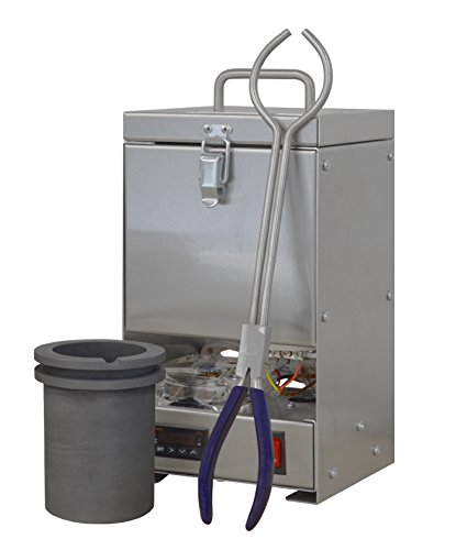 TableTop QuikMelt 100 oz PRO-120 Melting Furnace - Stainless Steel Kiln Jewelry Making Metal Melting Casting Enameling Glass Fusing Precious Metal Clay ()