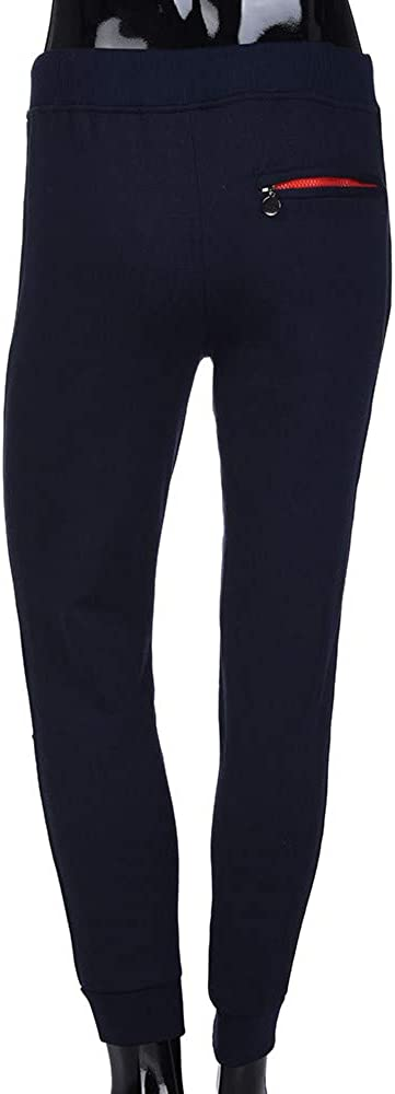Hunzed Men【Solid Color Zipper Pocket Sweatpants】 Mens Athletic Running Sport Jogger Pants