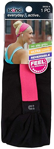 Scunci Everyday & Active No-Slip Grip Reversible Headband for sale  Delivered anywhere in USA