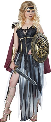 (California Costumes Women's Glamorous Gladiator, Black/Burgundy)