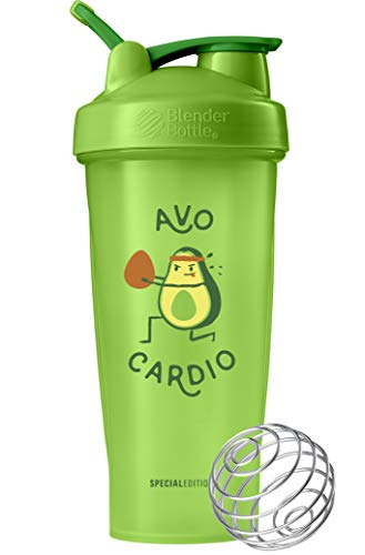 BlenderBottle Just for Fun Classic 28-Ounce Shaker Bottle, Avo Cardio (Thrive Blender Bottle)