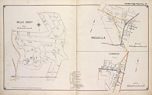 Map Poster - Belle Crest; Melville; Commack 13
