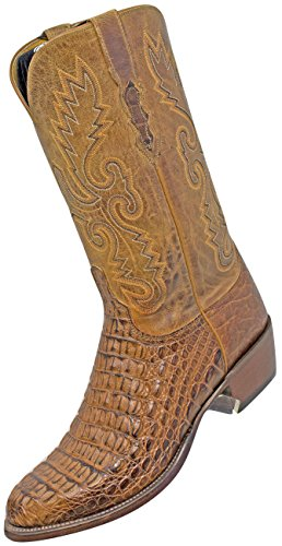 - Lucchese 2000 T3410.R5 Tan Burn HBC/Tan Burn Mad Dog Goat, Round Toe