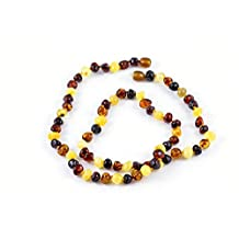 Healing Hazel 100-Percent Baltic Amber Adult Necklace Multi Polished 18-Inch-20-Inch