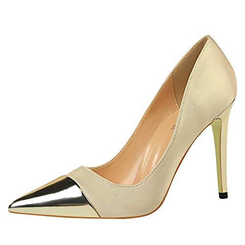 Affascinante Oro Donna Scarpe High Misssasa heel Pumps z6qwn