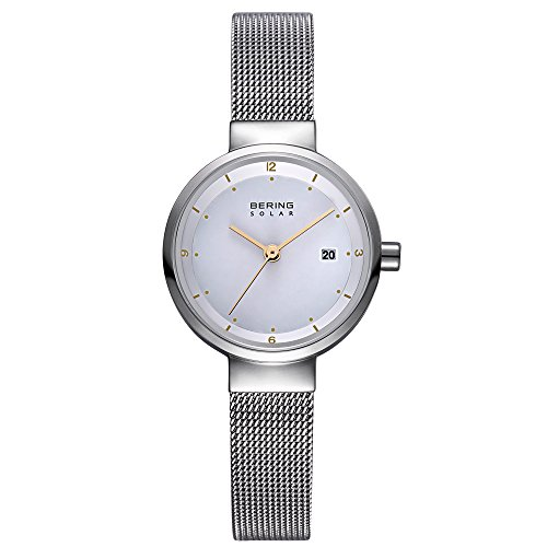 BERING Time 14426-001 Womens Solar Collection Watch with Mesh Band and scratch resistant sapphire crystal. Designed in Denmark.