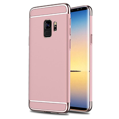 Case 3 PC Rigido S9 Sottile Galaxy Plus S9 in Galaxy Antigraffio Shock Cover Duro Gold Ultra Samsung Gradi Absorption 360 S9 Case Galaxy 1 per Custodia Rose Cassa Samsung TZqPxn1zxw