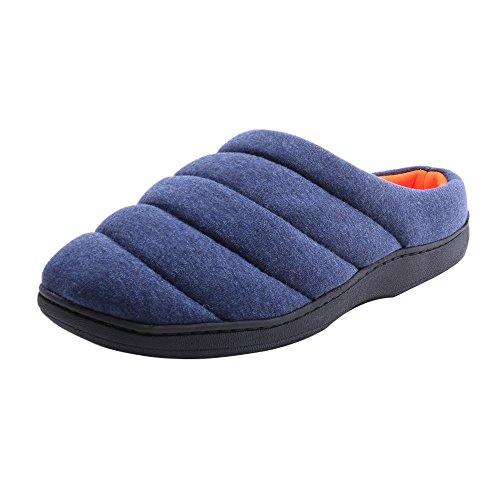 WILLIAM&KATE Men and Women's Cozy Slippers-Cute Fleece Memory House Slippers Cool Soft Casual Indoor Shoes (44-45/10-11D(m) US, Dark (Throwing Warm Up S)