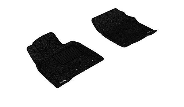 3D MAXpider Front Row Custom Fit Floor Mat for Select Lexus LX570//Toyota Land Cruiser Models Classic Carpet L1LX03712209 Black