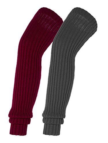 Urban CoCo Women's Winter Knee High Footless Socks Knit Crochet Leg Warmer ()