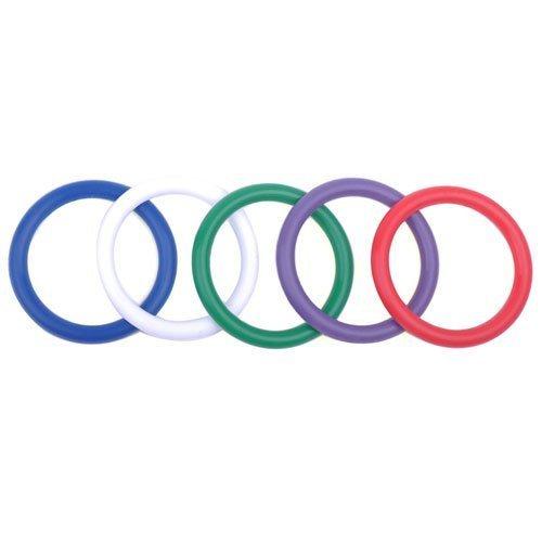 eeddoo® Silikon Penisringe & Cockringe - Set - 5 Ringe in 5 Farben - weiß, lila, rot, blau, grün (Penis Cock Pleasure Ring G-Punkt Stimulator Sexspielzeug für Männer & Frauen)