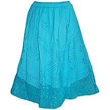 Mogul Maxi Skirt Bohemian GYPSY Boho Blue Medieval Skirts