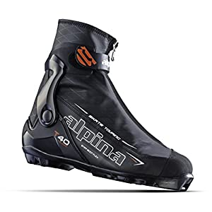 Alpina Sports T40 Skate Touring Cross Country Nordic Ski Boots, Euro 36, Black/White/Red